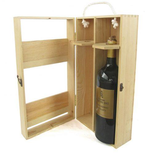 hộp đựng rượu bằng gỗ